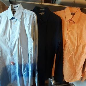 Lot of 3 mens Express dress shirts size medium